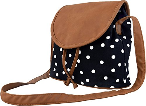 Ankit Fashion Women's Sling Bag Set Of 2 (Black And Brown,Bnb315Ly-Bl)