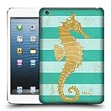 Head Case Designs Offizielle Paul Brent Gold Seahorse Küsten Ruckseite Hülle für iPad Mini 1 / Mini 2 / Mini 3
