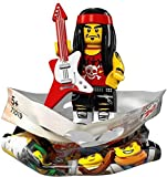 THE LEGO® NINJAGO® MOVIE™ 71019 Minifigur Gong & Guitar Rocker mit 1x GALAXYARMS Saigabel und 1x Katana in Gold (Gong & Guitar Rocker)