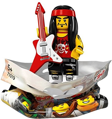 THE LEGO® NINJAGO® MOVIETM 71019 Minifigur Gong & Guitar Rocker mit 1x GALAXYARMS Saigabel und 1x Katana in Gold (Gong & Guitar Rocker) (Minifigur Gitarre Lego)