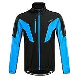 TOMSHOO Herren Fahrradjacke Fahrradbekleidung Wasserdicht Winddicht Atmungsaktiv Warm Fleece Jacket