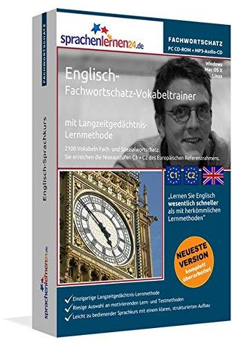 Englisch-Fachwortschatz-Vokabeltrainer mit Langzeitgedächtnis-Lernmethode von Sprachenlernen24: 2100 Vokabeln und Redewendungen. PC CD-ROM + MP3-Audio-CD. Für Windows 10,8,7,Vista,XP/Linux/Mac OS X