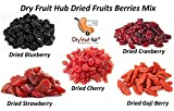 #6: Super Dried Berries Mix (50gms x 5 =250gms) (Blueberry, Cranberry, Strawberry, Cherry, Gojiberry) Each 50 Grams - Pack of 250 Grams