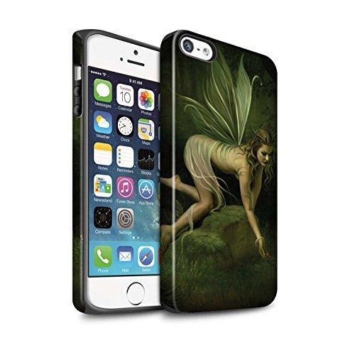 Officiel Elena Dudina Coque / Matte Robuste Antichoc Etui pour Apple iPhone 8 Plus / Feuille de Lapas Design / Fées Élégantes Collection Baies/Reine