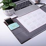 Befitery Schreibtischunterlage Multifunktions Schreibtisch Matte Pad Tischmatte Kreativ Computer Laptop Mausunterlage Schreibunterlage (Braun) - 2