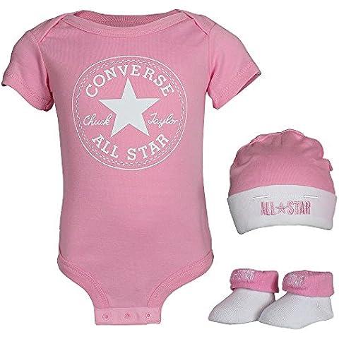 Converse Bambino Cappello, Gilet e Bootie, colore: rosa