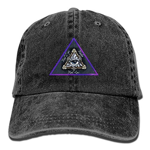Zhgrong Caps All Seeing Eye Masonic Style Vintage Washed Dyed Cotton Twill Low Profile Adjustable Baseball Cap Black mesh Cap