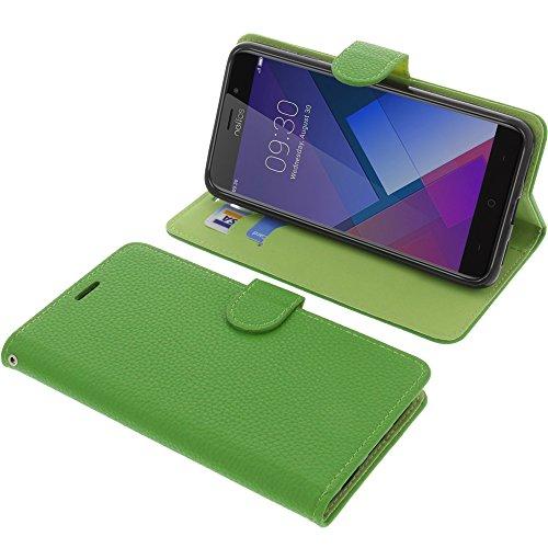 foto-kontor Tasche für TP-Link Neffos C7 Book Style grün Schutz Hülle Buch