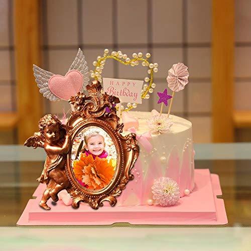 haodene Silikon Fondant Kuchenform Engel Bilderrahmen Form Vintage Rahmenform Für Zuckerfertigkeit, Kuchenranddekoration, Cupcake Topper