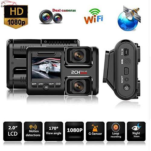 CAR ELECTRON Verdeckte Auto-DVR-Kamera FHD WiFi GPS Dual LensCar Electronics Doppelte Aufnahme Recorder Dual Lens Nachtsicht Auto DVR Dash Ca/Parküberwachung Dual Electronics Dvrs