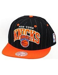 NEW YORK KNICKS - MITCHELL & NESS SNAPBACK - MTC 2 TONE PINSTRIPE - BLACK / WHITE Größentabelle: One-size-fitts-all