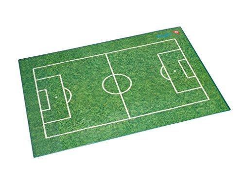 Läufer 46654 Schreibtischunterlage mit Motiv Fußballfeld, 40x53 cm, rutschfeste Schreibunterlage für Mädchen und Jungen, die Fußball lieben - 40 Fußball
