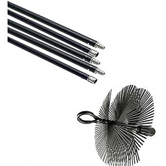 Flower – Kit Deshollinador Mecan.5 Cañas+Erizo Acero 50253