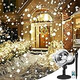 LED Schneeflocke ProjektorLicht, YUNLIGHTS Weihnachten Projektor Lichter, Wasserdicht IP65 Schneefall Projektor Leuchten Außen und Innen Deko