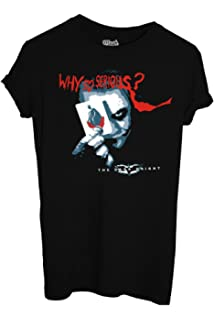 MUSH T-Shirt Dark Knight Batman Joker Why SO Serious-Film by Dress Your Style