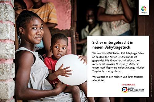 YUNIQME® Harmonie Babytragetuch – sehr weiche 100% Baumwolle – elastisches Tragetuch – Baby Tragetuch für Neugeborene mit bestem Tragegefühl – OEKO TEX – verschiedene Trendfarben - 6