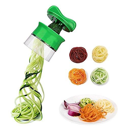 Un piccolo e divertente affettatrice vegetale, facile da usare e pulita, ti permette di fare guarnire di insalate veloci, di fare spaghetti infiniti, di portarvi una vita sana e felice. La spiralizzazione vegetale è perfetta per gli amanti del cibo, ...