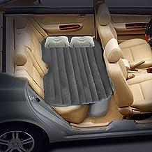 i-shop auto materasso gonfiabile da viaggio gonfiabile letto campeggio sedile posteriore esteso materasso W/2cuscini per genitori, bambini o amanti floccato (grigio)