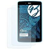 Bruni Schutzfolie kompatibel mit LG G Pad 7.0 Folie, glasklare Bildschirmschutzfolie (2X)