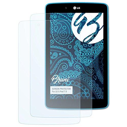 V400 Lg (Bruni Schutzfolie für LG G Pad 7.0 Folie - 2 x glasklare Displayschutzfolie)