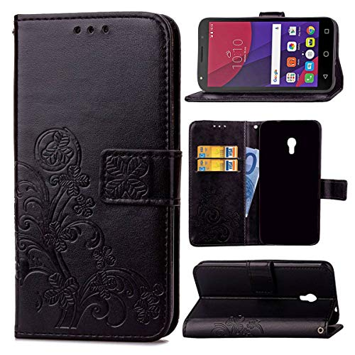 JEEXIA Funda para Alcatel Pixi 4 (5.0') 5010D 3G Version, Moda Flip Wallet Case Cover...