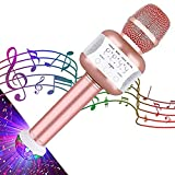 Shuainiu Wireless Bluetooth Karaoke Microfono Portatile KTV Karaoke Machine Perfetto per Feste Pop Rock n 'Roll Feste Singole Altro