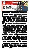 Marabu 028500001 - Art Stencil Din A4 Bricks