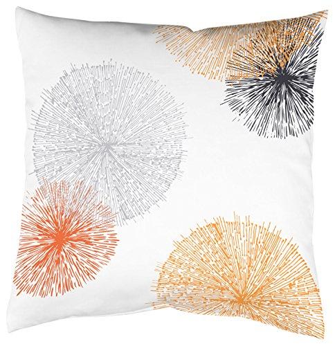Home Fashion Kissenhülle Digitaldruck, Samt, orange, 1 x 50 x 50 cm
