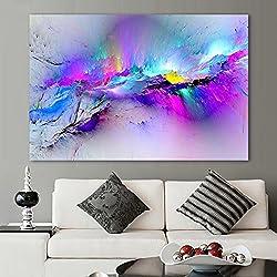 XIAOXINYUAN Tableau Abstrait Peinture À l'huile Tableaux-Murs pour Une Salle De Séjour Décoration d'art Abstrait Toile Colorée Nuages Aucun Cadre 70X105Cm Pas De Cadre