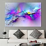 XIAOXINYUAN Abstrakte Malerei Öl Malerei Wand Bilder Für Wohnzimmer Home Decor Abstrakte Wolken Bunte Leinwandbild Ohne Rahmen 50 X 75 cm Ohne Rahmen