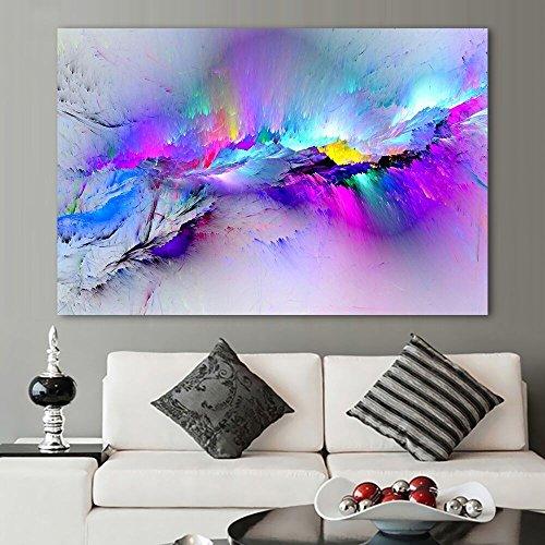 XIAOXINYUAN Tableau Abstrait Peinture À l'huile Tableaux-Murs pour Une Salle De Séjour Décoration d'art Abstrait Toile Colorée Nuages Aucun Cadre 70X105Cm Pas De Cad
