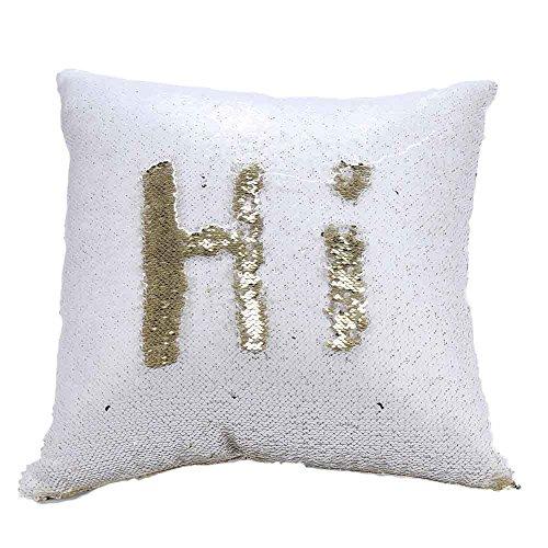 Paillettes federa creativo doppio colore glitter paillettes throw pillow case cafe home decor copre magico che cambia colore copertura del cuscino, i, 40cm*40cm/15.74 * 15.74