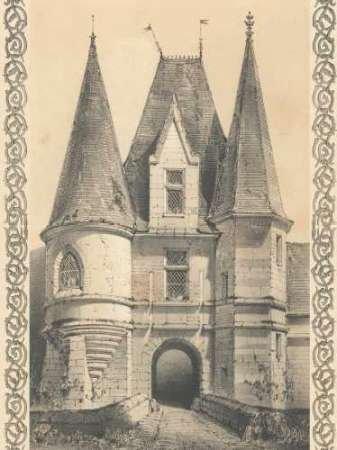 Bordeaux Chateau II par Firmin d'Amiens Cassas, Louis–Fine Art Print Disponible sur papier et toile, Toile, SMALL (9 x 12 Inches )