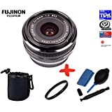Bundle Fujifilm XF18mm F2.0 Lens + 52mm UV Lens Filter + Lens Pouch + Lens Cleaning Kit (suitable for X-Pro2 XPro2 X-A2 XA2 X-E1 XE1 X-E2 XE2 X-M1 XM1 X-M2 XM2 X-T1 XT1 X-T10 XT10)