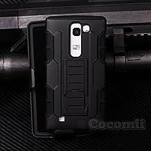 LG G4c / LG Magna Funda, Cocomii Robot Armor NEW [Heavy Duty] Premium Belt Clip Holster Kickstand Shockproof Hard Bumper Shell [Military Defender] Full Body Dual Layer Rugged Cover Case Carcasa (Black)