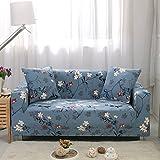 FORCHEER Sofabezug Elastischer Sesselbezüge Blumen-Muster Chair Cover Stretch Hussen für Sofa/Couch in Verschiedenen Größen (2-Sitzer, Pattern# MY)