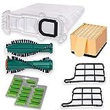 18 Vlies Staubsaugerbeutel, Filterset, Ersatzbürsten EB360 und Duft, passend für VK 136