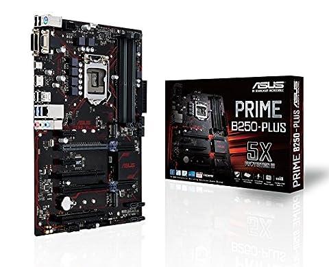 ASUS PRIME B250-Plus Motherboard - Black (Socket 1151/DDR4/S-ATA 600/ATX)