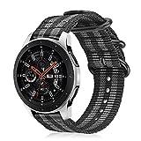 Fintie Armband kompatibel für Galaxy Watch 46mm / Gear S3 Classic/Gear S3 Frontier/Huawei Watch GT - Nylon Uhrenarmband Sport Armband verstellbares Ersatzband mit Edelstahlschnallen,...