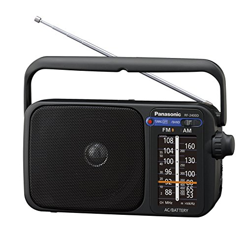 Panasonic RF-2400DEG-K - Radio portátil (770mW, iluminación LED, FM/AM, fácil y simple de usar) color negro