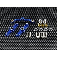 Tamiya TT-01 Upgrade Parts Aluminium Steering Assembly With Bearings - 1 Set Blue