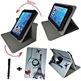 Aldi - MEDION LIFETAB X10302 MD 60347 - Drehbare Tablet PC Schutztasche mit Standfunktion + Touch Pen - 10.1 Zoll Eifelturm Paris 360_