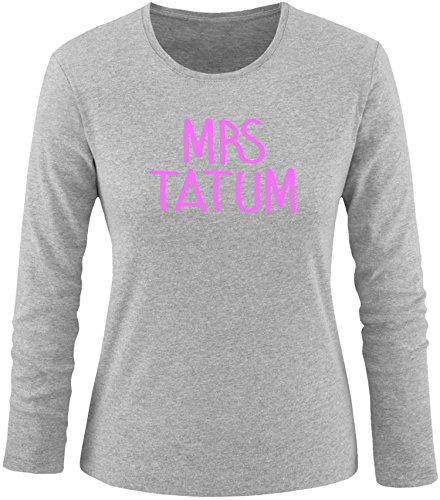 EZYshirt® Mrs Tatum Damen Longsleeve Grau/ Rosa