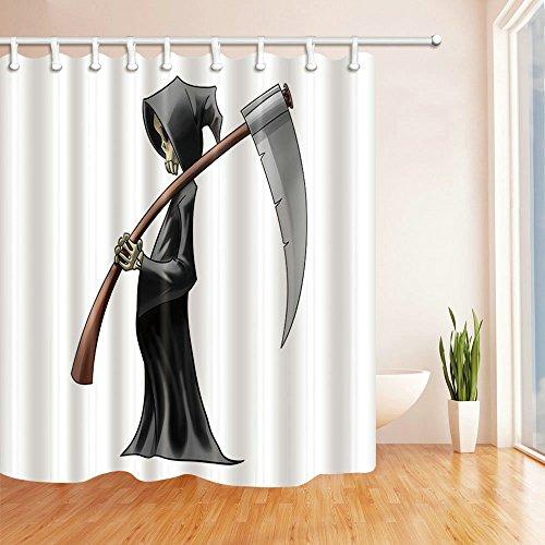 Flamingo Tier Cartoon Grün leaves Death Devil Cool Gesundheit Retro Dusche Vorhänge 180cmx180cm nicht Moldy Polyester Wasserdicht Badezimmer Vorhang (mit Haken) Modern 70 x 70 Inches Multi E1085 (Dusche Vorhang Liner 180x70)