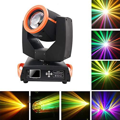 Disco Lights, Linear Dimming Disco Bühnentanzparty Licht Kristallkugel Effekt mit Fernbedienung für Home Outdoor Feste und Geburtstage -610 (Color : Orange) -