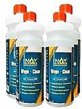 INOX Wege Clean - SteinreinigerKonzentrat, 4 x 1L - Gründbelagentferner, Algenentferner für Außen