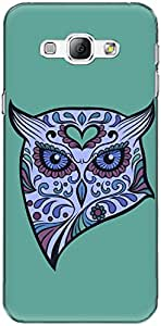 The Racoon Grip printed designer hard back mobile phone case cover for Samsung Galaxy A8. (angry owl)