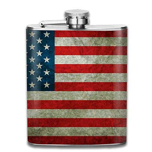 Flagge des amerikanischen tragbaren Edelstahl-Flagon Brandy Wine Pot