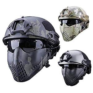 IrahdBowen Maske Pilot Maske Dual Mode Stirnband System Outdoor Tactical Schutzmaske Camouflage Maske