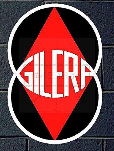 Sticker-Designs 20cm!2Stück!Aufkleber-Folie Wetterfest Made IN Germany GILERA Vintage Moto B232 Jahre haltbar UV&Waschanlagenfest Auto-Vinyl-Sticker Decal ProfiQualitätToilettendeckel -